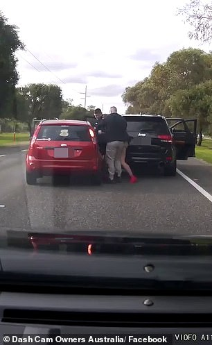 The men beating the driver