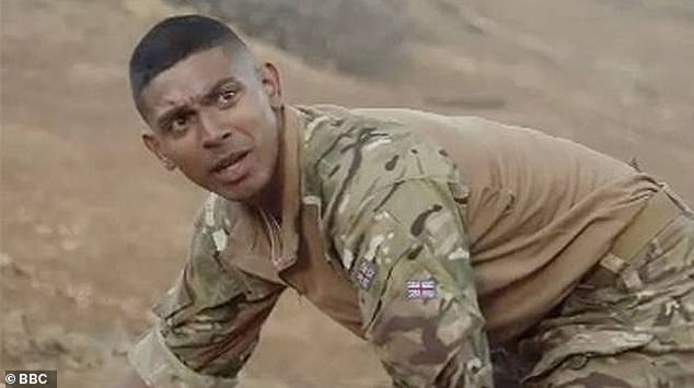 Screen star: Sean is known to many for his role as Private Jaiden 'Monk' Montgomery in the BBC series Our Girl opposite Michelle Keegan