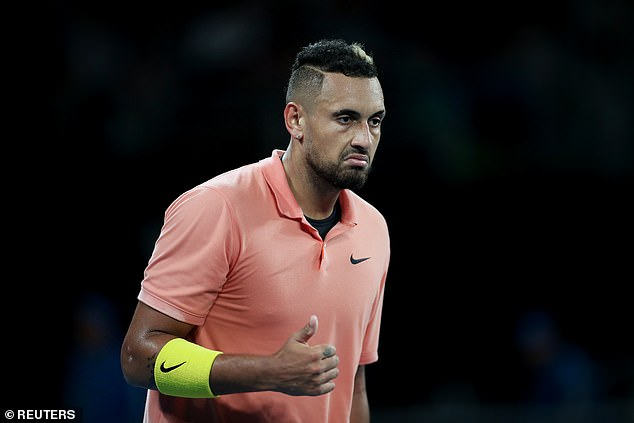 Kyrgios (pictured at the Australian Open in January) has questioned why tennis is so desperate to return amid the coronavirus pandemic