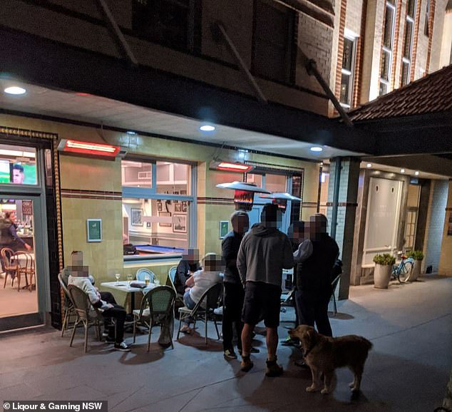 The Watsons Bay Boutique Hotel (pictured) in the city's eastern suburbs was slapped with the hefty fine on Friday night, after it failed to follow it's own COVID-19 Safety Plan