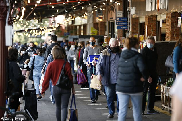 Buyers have flocked to the South Melbourne market as Victoria Premier Daniel Andrews is expected to announce the start of the Stage Four lockdown on Wednesday.