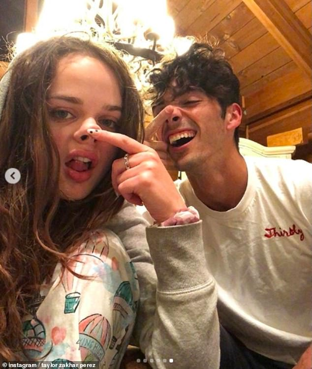 Larking around: The Netflix stars showed off their cheeky personalities as they pulled funny faces for another selfie