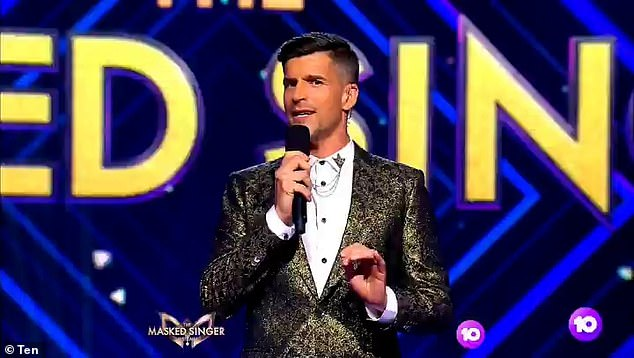 'In terms of us following protocol, you just couldn't get any stricter': Jackie ensured her listeners that Channel 10 was taking every measure to prevent the spread of coronavirus on-set. Pictured: The Masked Singer host Osher Gunsberg