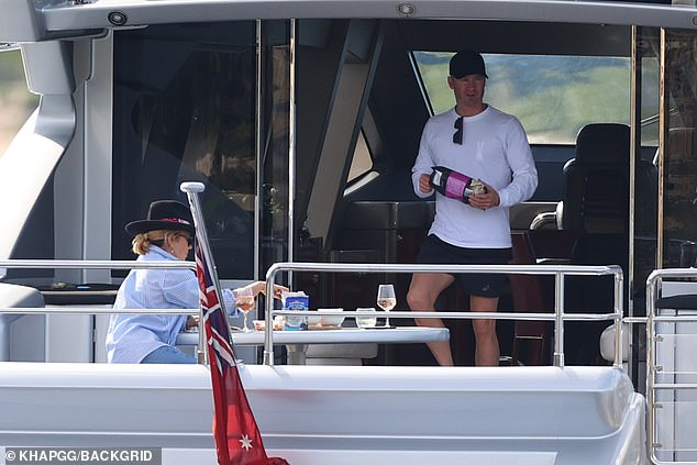 Time for some more! Michael was spotted digging into a packet of salt and vinegar chips