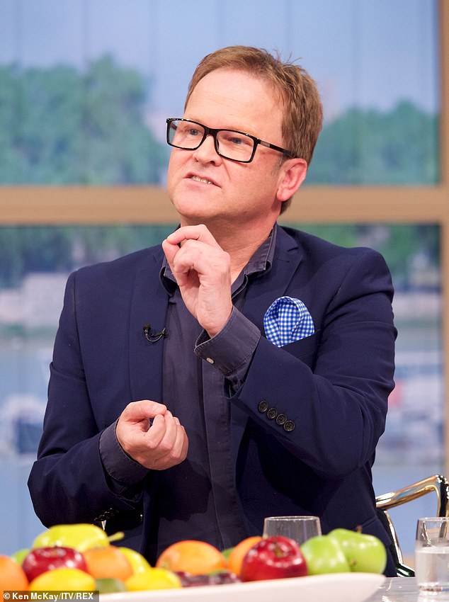 Steve, pictured on This Morning last year, went on to suggest again 're-shaping' restaurant menus to encourage Brits to eat healthy food