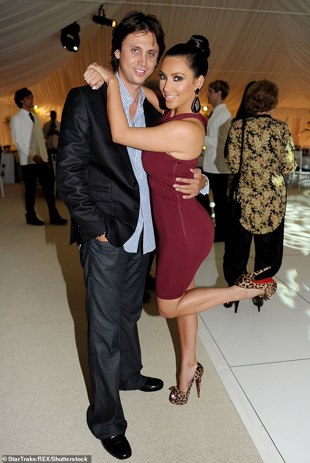 They go back a long way: Kim and Jonathan have been close friends for 15 years; Here they are seen in 2010 in New York
