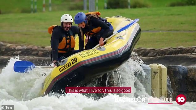 Not for the faint-hearted: Locky takes the ladies on adrenaline-pumping dates, including white water rafting, RTV driving, rock climbing and bicycling
