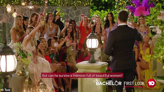 Locky's ladies!Do you know a 2020 Bachelor contestant? Email tips@dailymail.com