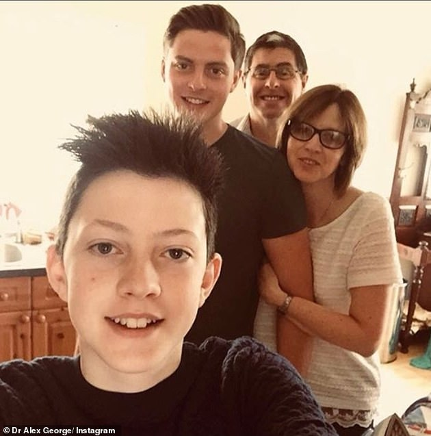 Distraught: Dr Alex told Instagram that he lost his 'beautiful little brother to mental health' (posted on Instagram in 2018)