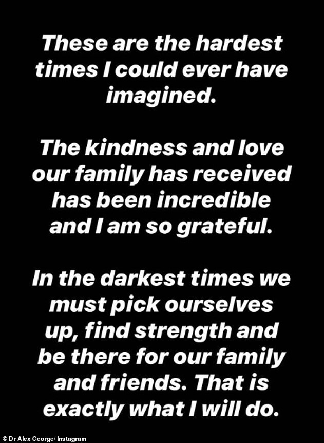 Emotional: The grieving star has also emotionally revealed that he and his family are going through their most difficult and dark times.