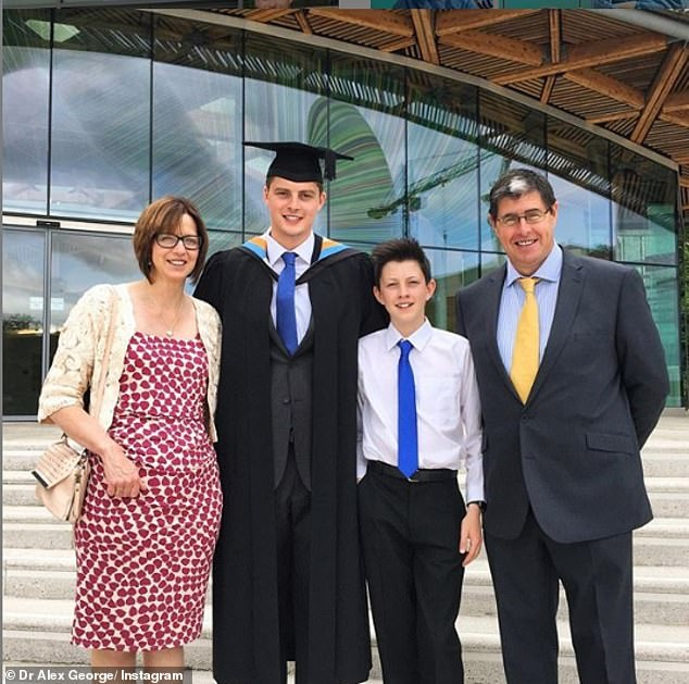 Sad: On Monday Dr Alex appeared to confirm his family put Llyr to rest that day as he took to the social media platform to share an update
