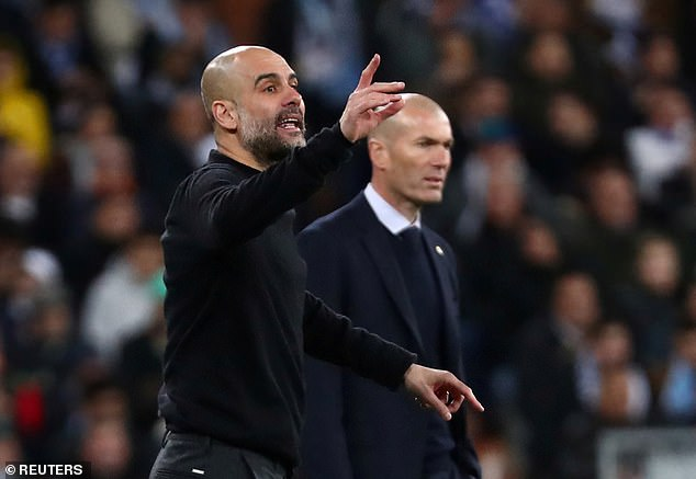 Man City boss Pep Guardiola will look to knock Zidane's side out of the Champions League