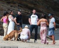 Ben Affleck and Ana de Armas enjoy beach outing in Malibu with BFF Matt Damon and his wife Luciana