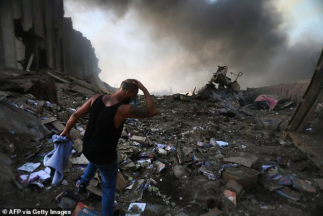 Sobering scenes showed citizens in despair as their homes were damaged, with walls blown through and windows shattered