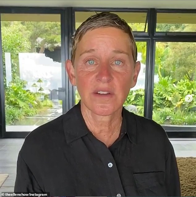 Shocking: Stern's comments come amid news that the Ellen DeGeneres Show has seen some of the worst ratings in its 17-year history, as the presenter, 62, continues to be plagued by claims of a toxic work environment (pictured in June)