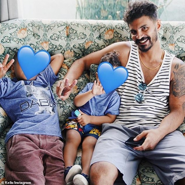 Growing family: The Grammy-nominated singer has two sons: Knight, eleven, with ex Nas, and Shepherd, four, with husband Mike Mora (pictured)
