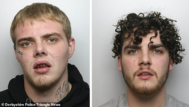 Police mugshots of Ricky Dunne, left, and Thomas Stones, right. Stones was jailed for two years and four months and Dunne was sentenced to three years in prison