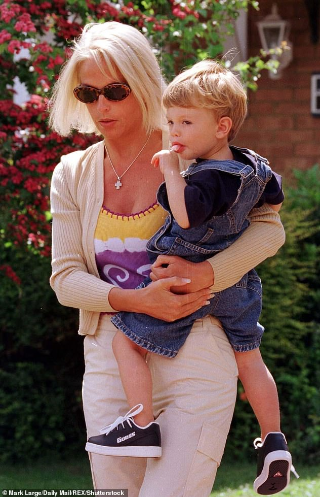 Shocking: Paul previously walked out on his son when he was a baby, after a string of rows with his ex-wife Sheryl, 54. Pictured in 1998