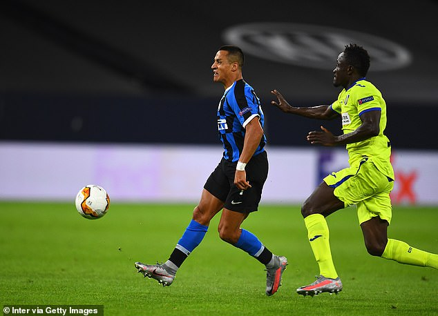 Sanchez played for Inter on Wednesday night as he beat Getafe in the Europa League