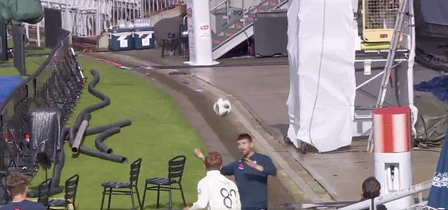 Joe Root And Co Show Off Their Football Skills By