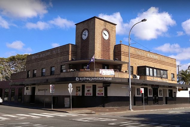 The positive coronavirus case visited the Sydney Junction Hotel in Hamilton (pictured) from  from midnight to 1.30am on Sunday August 2. Any revellers who visited the venue at the same time are urged to monitor for coronavirus symptoms