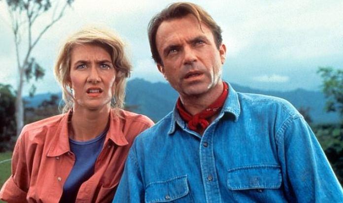 Retroceso: el dúo dinámico cautivó al público como el Dr. Ellie Sattler y el Dr. Alan Grant en la película original de 1993 dirigida por Steven Spielberg.