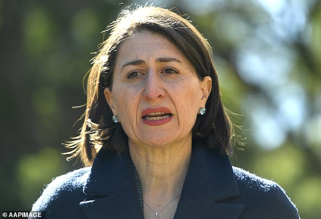 NSW Premier Gladys Berejiklian (pictured) has pleaded with young people to limit their socialising after a man in his 20s visited three bars, three restaurants and a supermarket while infected with coronavirus
