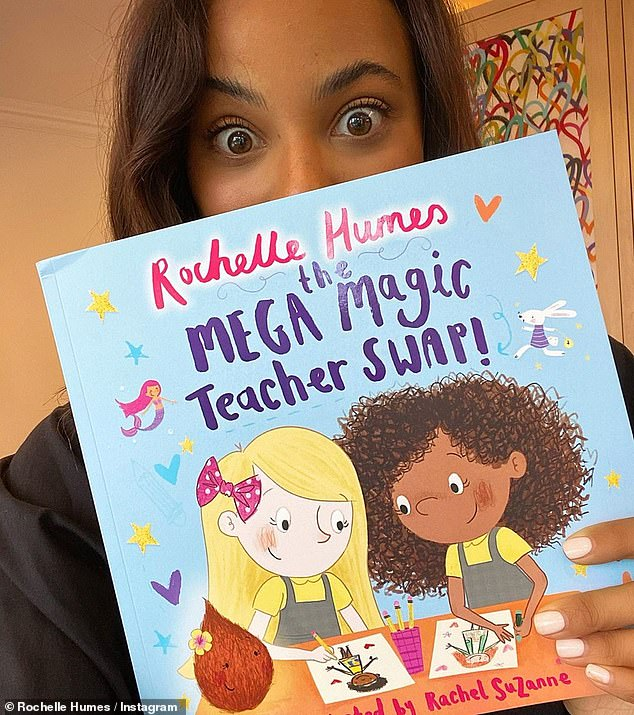 Multi talented:Rochelle also spoke about her new children's book. The Mega Magic Teacher Swap is the star's second book, and helps kids navigate moving into a new school year