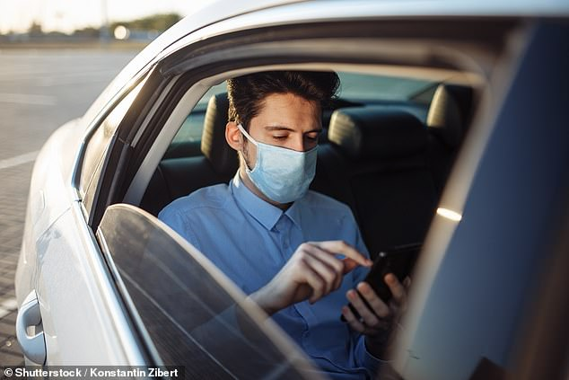 Uber is now asking all drivers and passengers in New South Wales to wear a mask while using the service as the state continues to battle outbreaks of coronavirus (stock image)