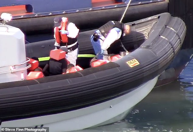 Border force officials rescued the migrants this morning making the dangerous Channel crossing