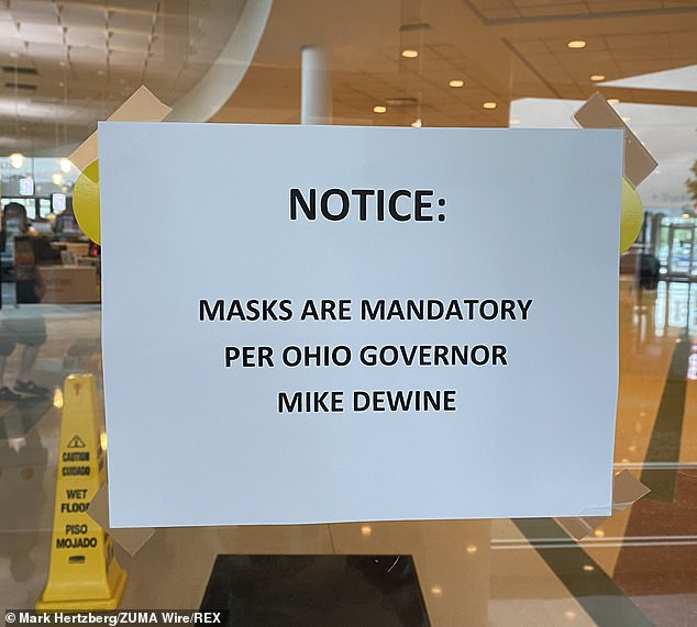 DeWine urged people attending church and worship services to follow coronavirus safety precautions and wear masks. He issued a statewide mask mandate last month