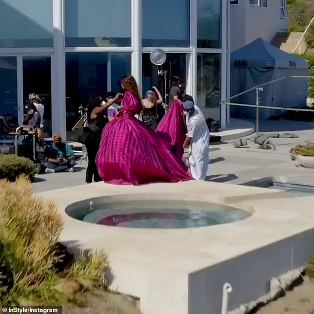 BTS: Hairstylist Larry Sims and make-up artist Sheika Daley took many precautions during the former Disney Channel star's coronavirus-era shoot at a Los Angeles mansion