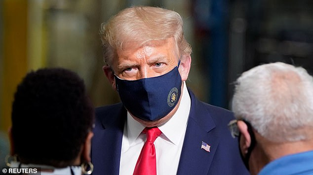 President Donald Trump wore a face mask when he toured a Whirlpool factory in Clyde, Ohio