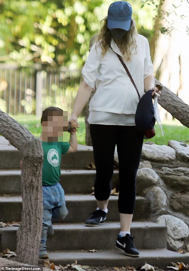 Family time:Rachel McAdams was spotted enjoying a sunny walk in Los Angeles this week with her two-year-old son