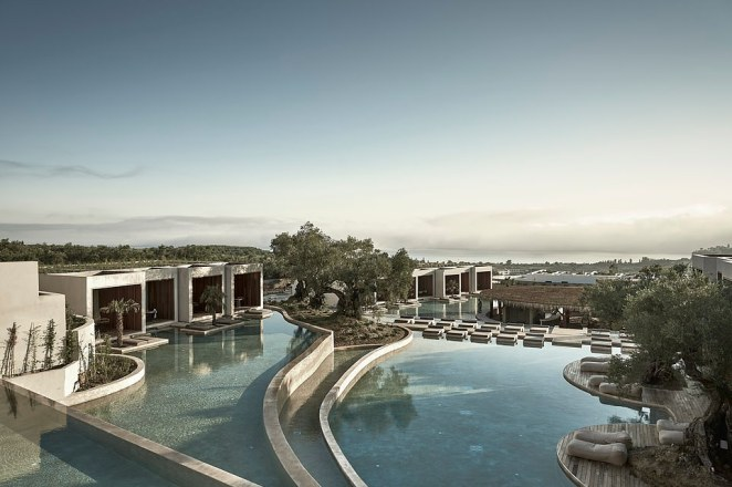 This striking hotel was dreamt up by Athens and Stockholm-based firm Block722architects+