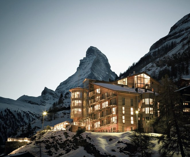 The Omnia sits 5,410ft up in the Swiss Alps, in the shadow of the iconic Matterhorn
