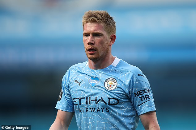 Kevin De Bruyne was the only Manchester City player on the list after providing 20 assists