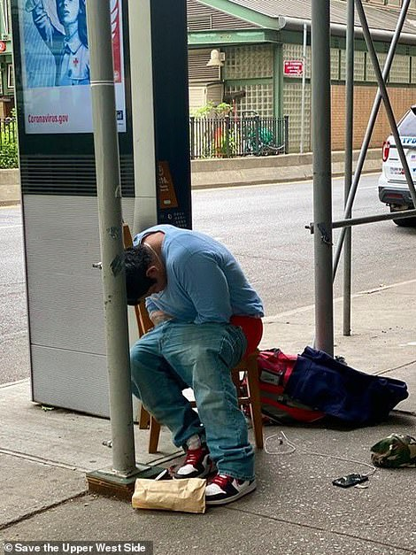 Pictures shared on the group have shown a number of homeless men sleeping on the streets in the local area around the hotels