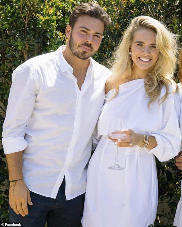 Matthew Doyle, 32, from Burraneer in southern Sydney, was arrested in September 2019 (pictured: Doyle and his wife, Kelsea)