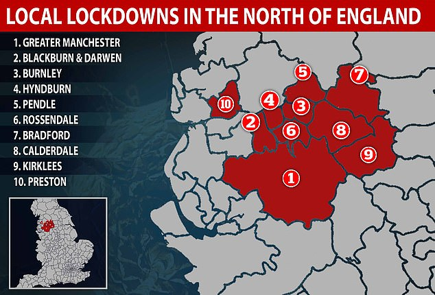 Bury is one of a number of areas in the north of England to be locked down in recent weeks