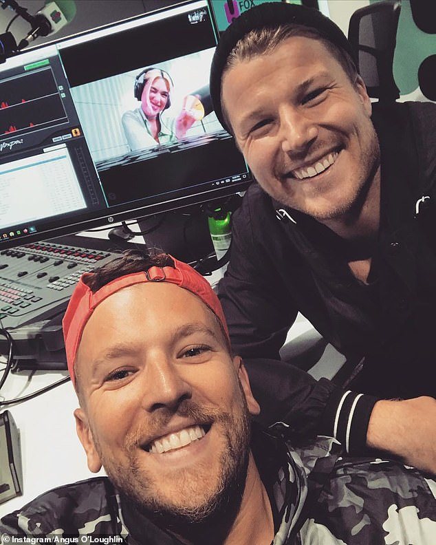 Team: Angus O'Loughlin hosts Hit Weekend Breakfast with Paralympian Dylan Alcott. Angus and Dylan are pictured together