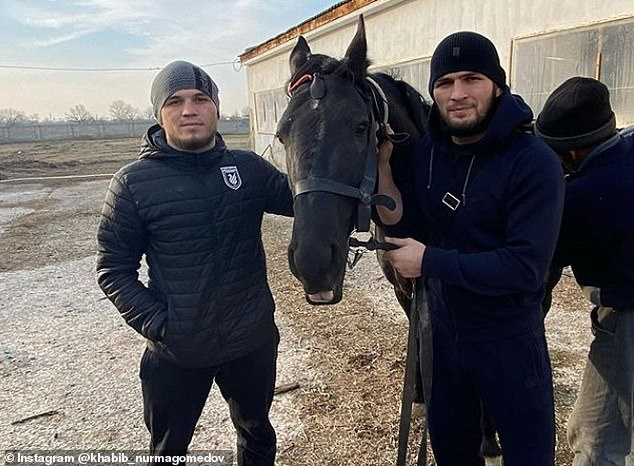 Umar Nurmagomedov (left) is also undefeated and has signed with the UFC this year