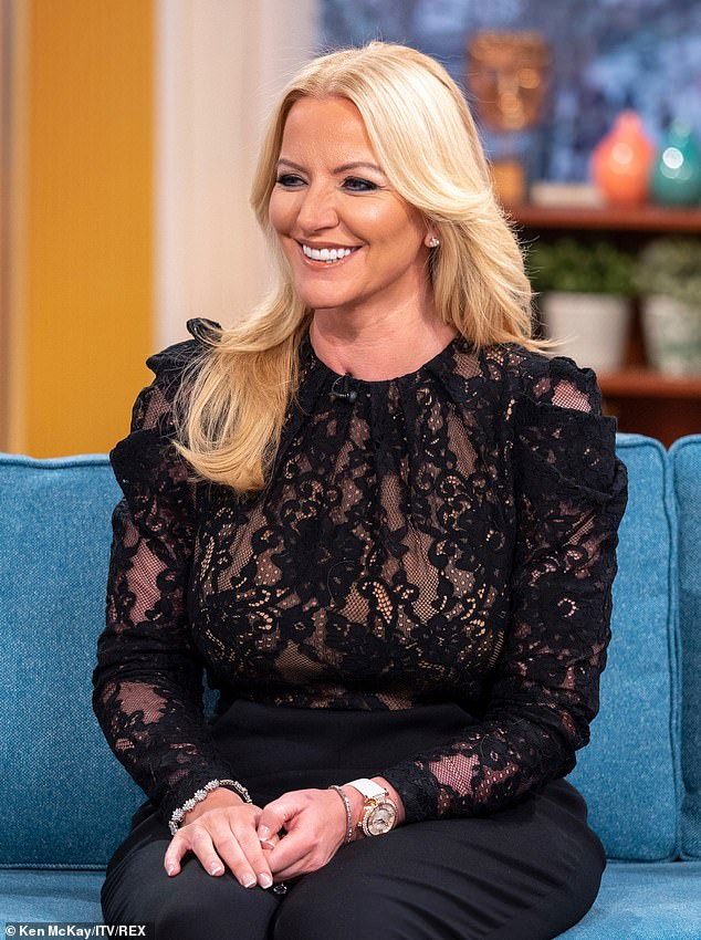Coy: The star appeared on ITV's This Morning back in January 2019, and was initially coy about showing off her ring