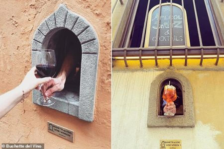 Historic 'Wine Windows' Used by Merchants in Italy to Hand People Their Favorite Wine During Bubonic Plague 400 Years Ago Return to Use During Coronavirus Plague
