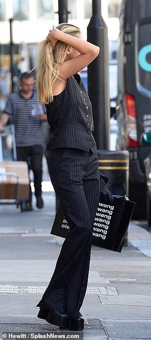 Superb: she wore her long blonde locks