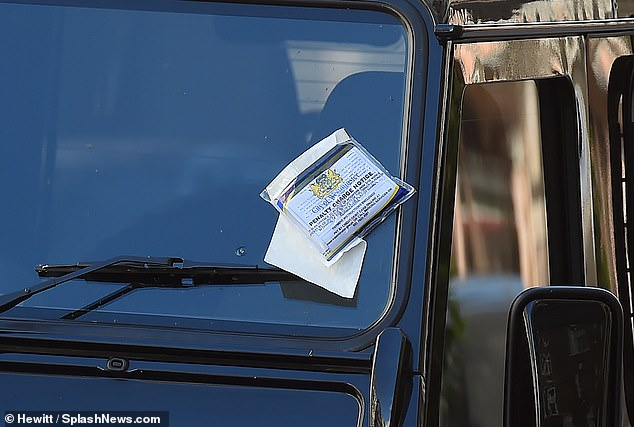Oops! The couple found the ticket slapped on Brooklyn's windshield