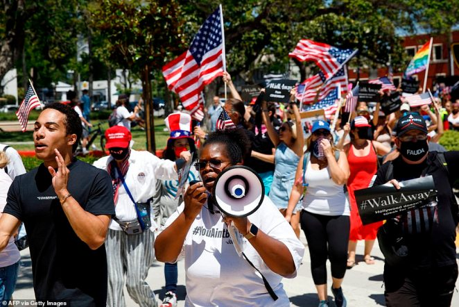 These protests appear to be in response to a number of police brutality demonstrations that were sparked three months ago with the death of George Floyd in Minneapolis, Minnesota