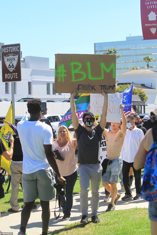 Although the #WalkAwayFoundation event was mostly attended by Trump supporters, some Black Lives Matter and anti-police brutality residents showed up