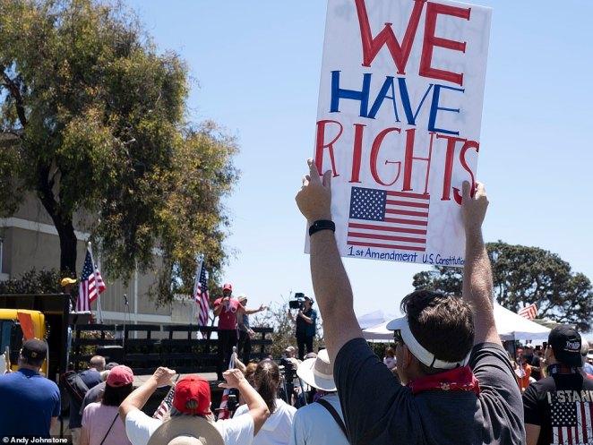 A 'Recall Newsom Beach Party' was held in Ventura's Promenade Park to protest California Gov. Gavin Newsom's coronavirus pandemic response' on Saturday