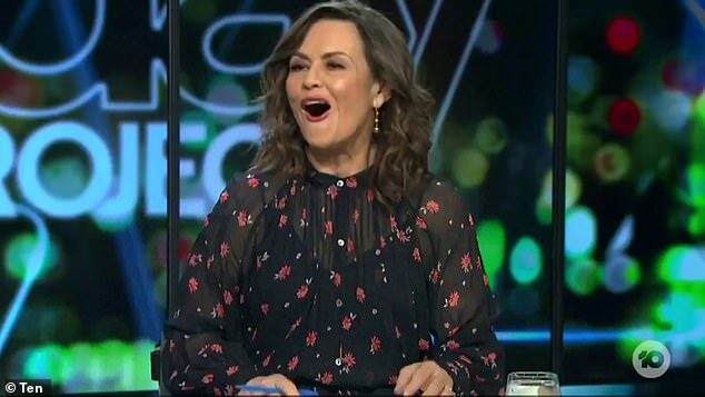'You can't say that!' The Project's Lisa Wilkinson (pictured), 60, gasped over a comment co-host Tommy Little made to singer Thelma Plum on Sunday's episode